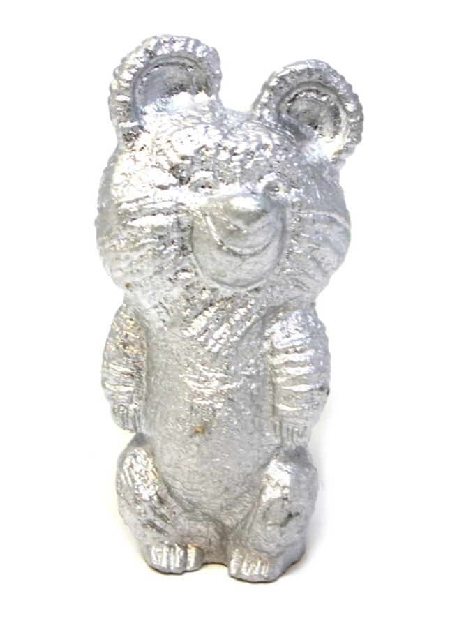 Фигурка «Олимпийский мишка» (металл), 11,5 см (СССР)