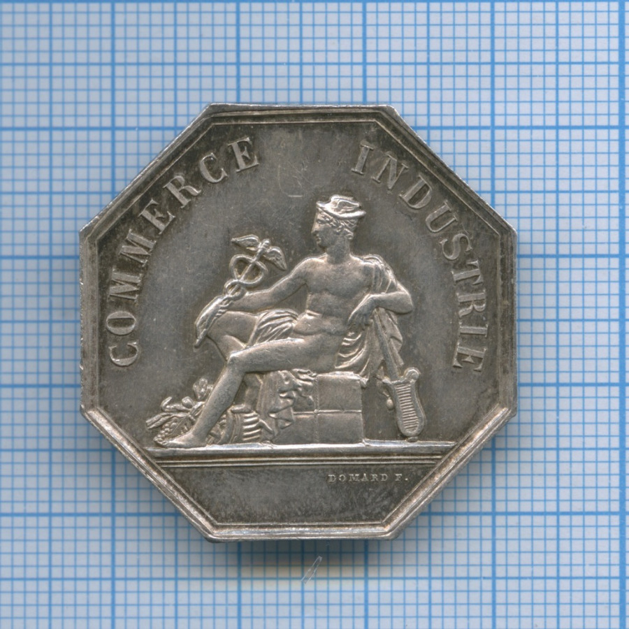 Жетон коммерческий «Quo Non Hac Duce» (серебро 925 пробы) (Франция)