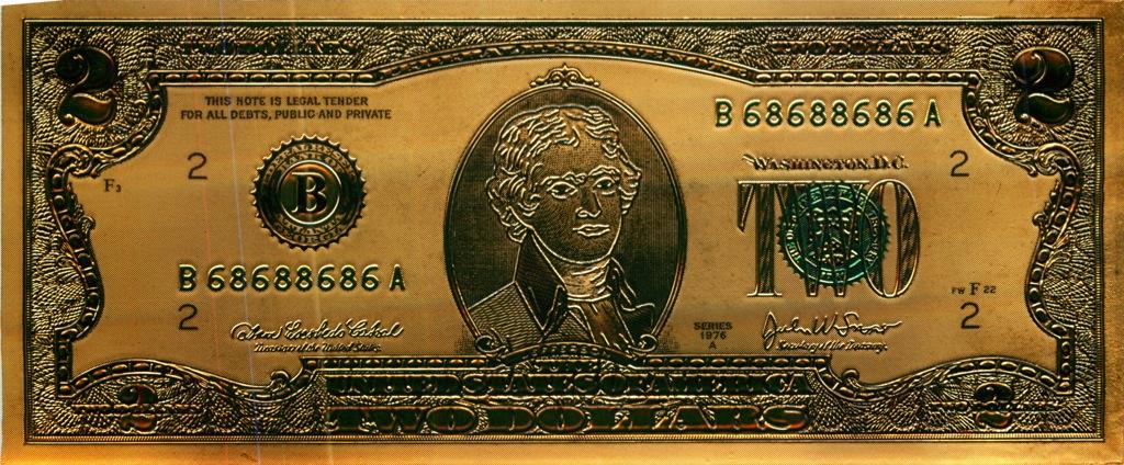 2 доллара - США (сувенирная)