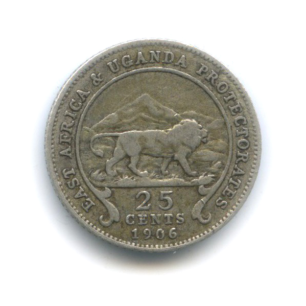 25 центов, Восточная Африка и Уганда 1906 года
