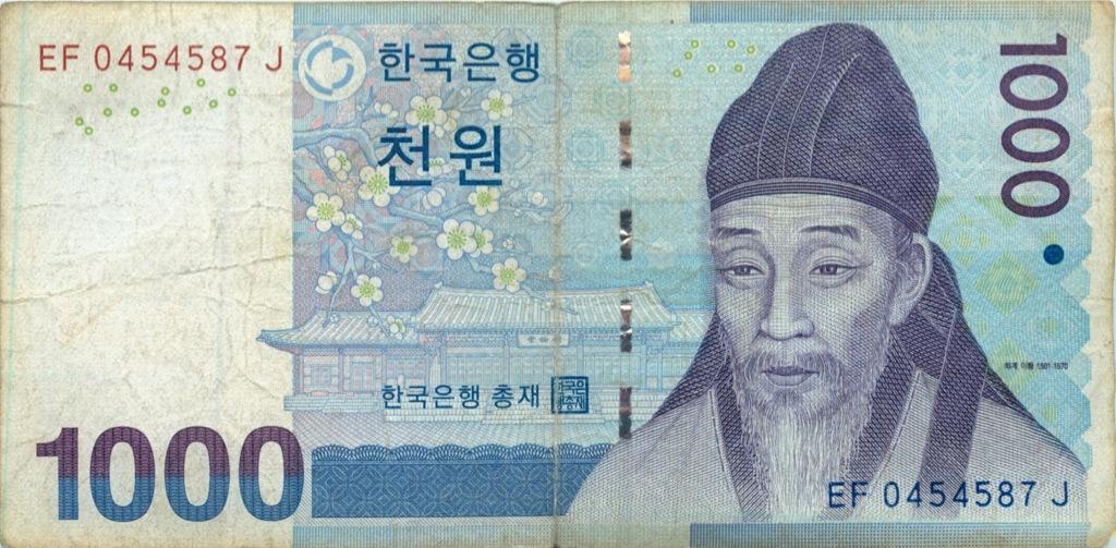 1000 вон (Южная Корея)