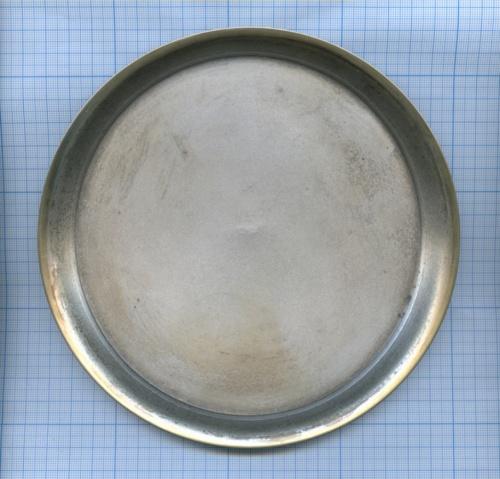 Поднос (мельхиор, клейма, 18 см)