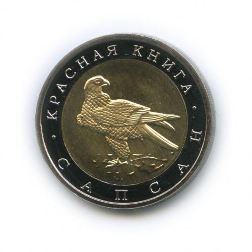 Жетон «50 рублей - Красная книга - Сапсан» (копия) (Россия)