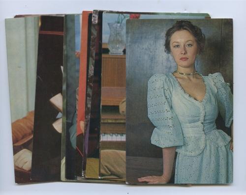 Набор открыток «Актеры» (16 шт.) (СССР)