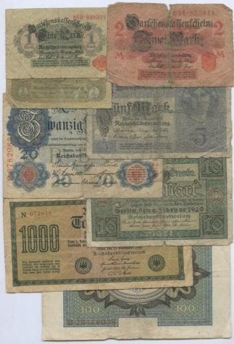 Набор банкнот (Германия)