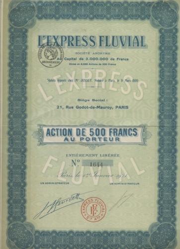 Акция 500 франков «L