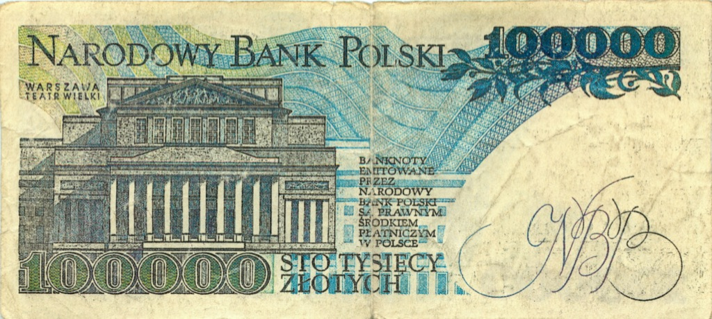 100 тысяч злотых 1990 года (Польша)