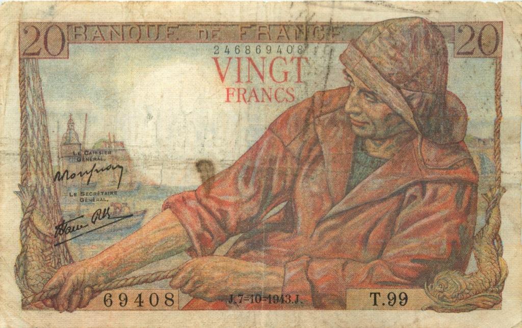20 франков 1943 года (Франция)