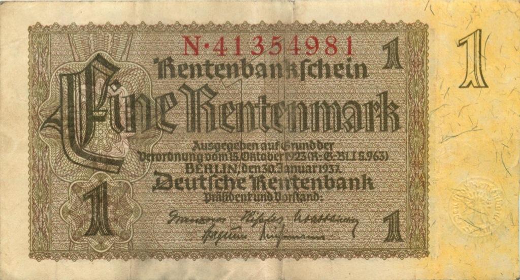 1 рентенмарка 1937 года (Германия)