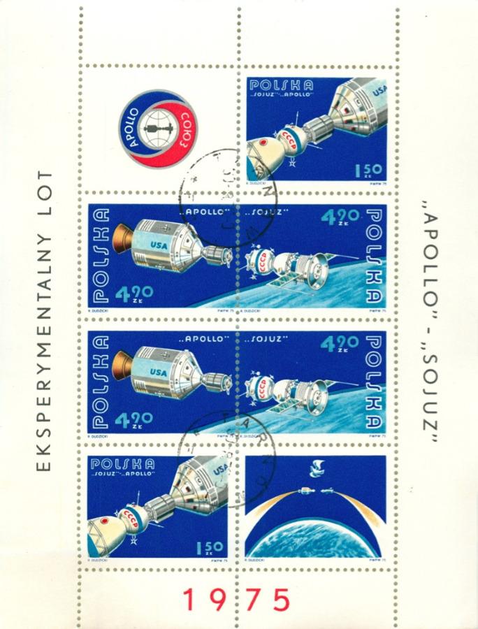 Набор почтовых марок «Космос» 1975 года (Польша)