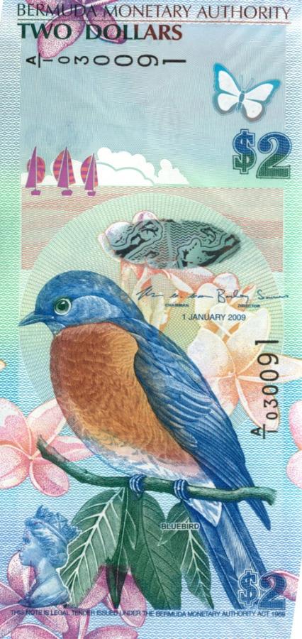 2 доллара (Бермудские острова) 1969 года