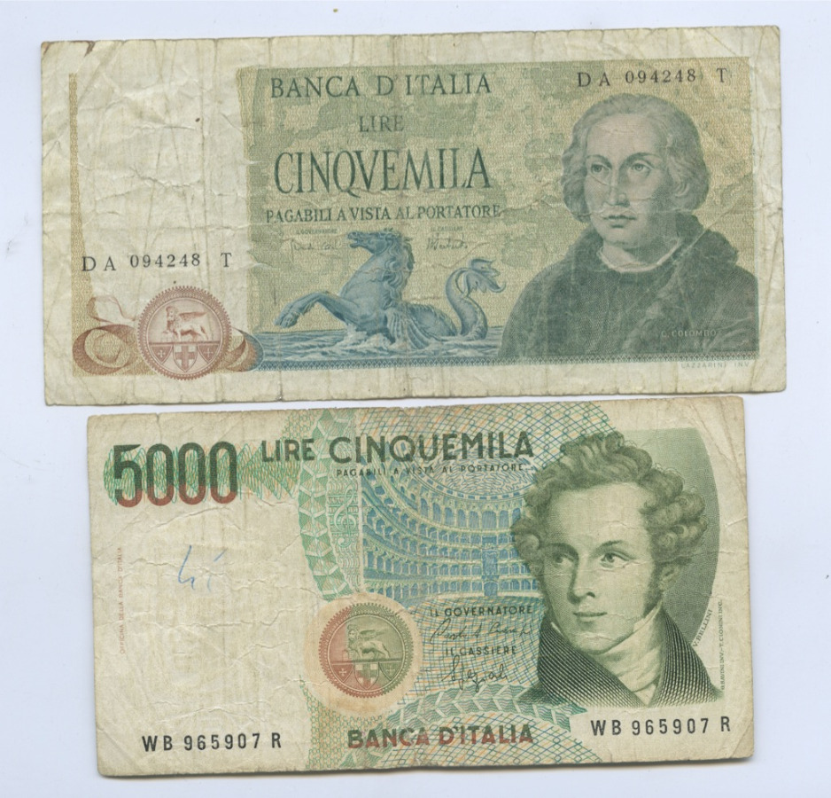 Набор банкнот (Италия)