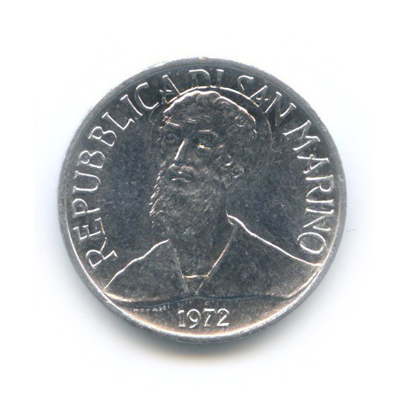 1 лира - Святой 1972 года (Сан-Марино)