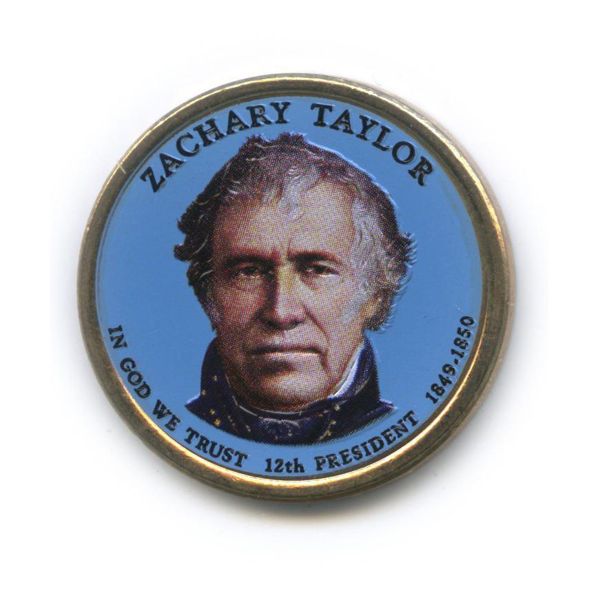 1 доллар — 12-ый Президент США - Закари Тейлор (1849-1850), цветная эмаль 2009 года D (США)