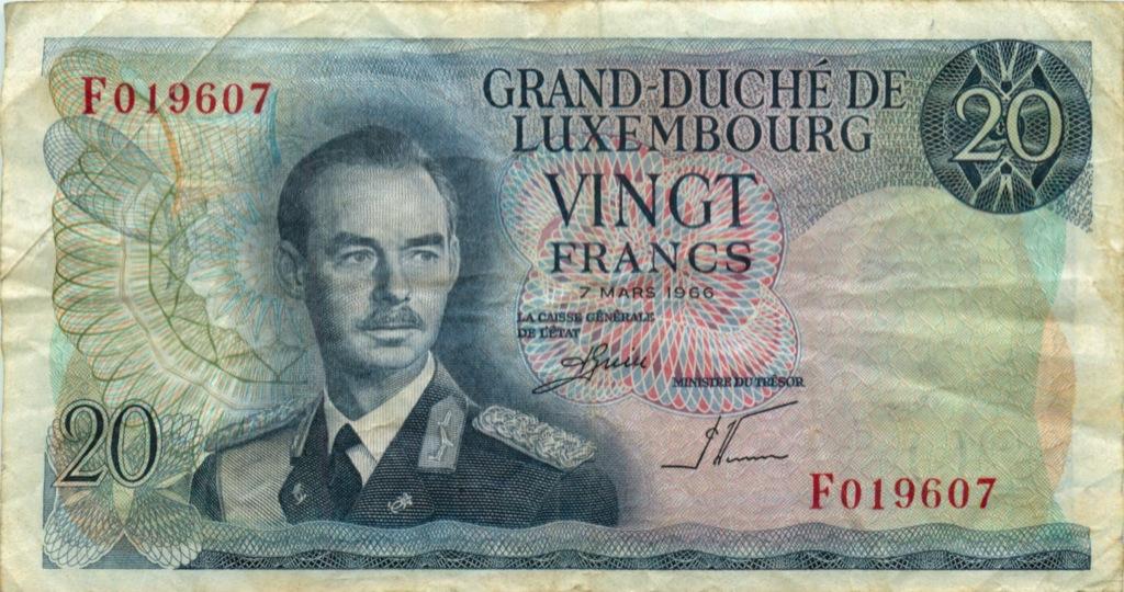 20 франков 1966 года (Люксембург)