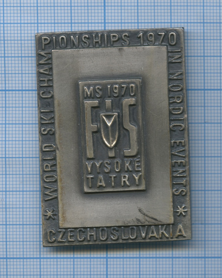 Накладка «World Ski Championsships 1970 In Nordic Events» 1970 года (Чехословакия)