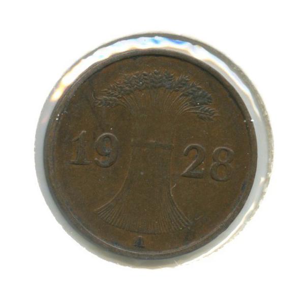 1 рейхспфенниг (в холдере) 1928 года A (Германия)