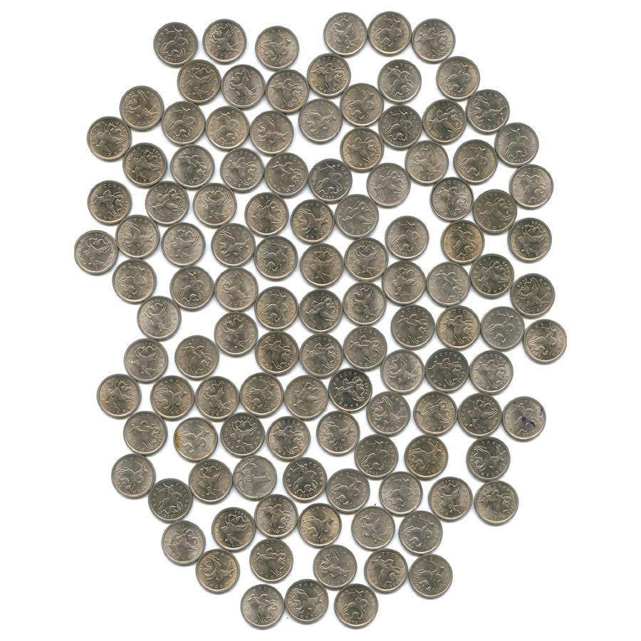 Набор монет 1 копейка (521 шт.) (Россия)