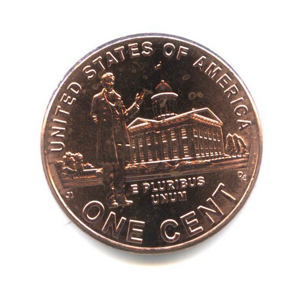 1 цент — 200 лет содня рождения Авраама Линкольна - Карьера вИллинойсе 2009 года D (США)
