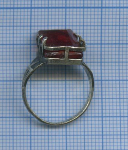 Кольцо с камнем (серебро, 875 проба)