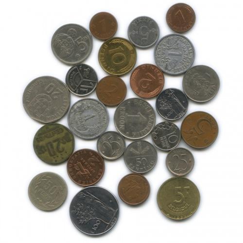Набор монет (разные страны), 25 шт.