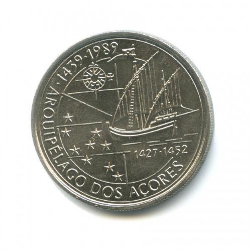 100 эскудо — Золотой век открытий - Открытие Азорских островов 1989 года (Португалия)