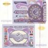 1 миллион евро (вконверте, сертификат The Naples Bank Note Company USA)