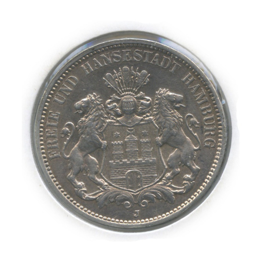 3 марки - Герб, Гамбург (в холдере) 1912 года J (Германия)