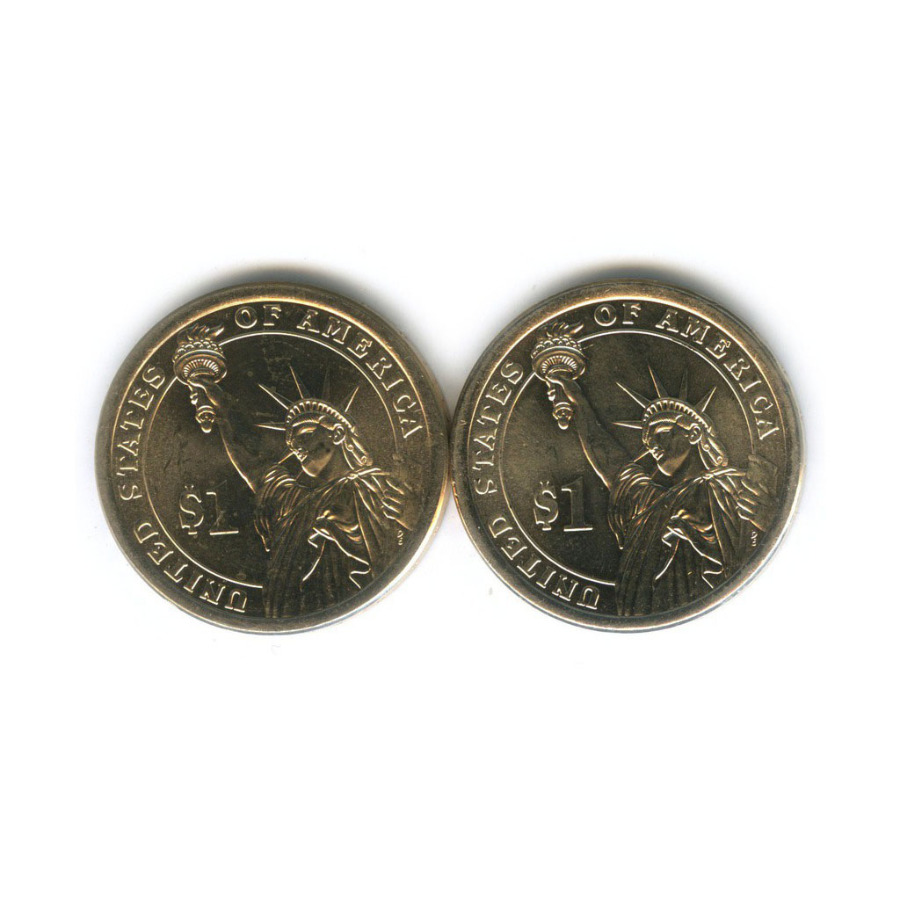 Набор монет 1 доллар - Президенты США 2014, 2016 (США)