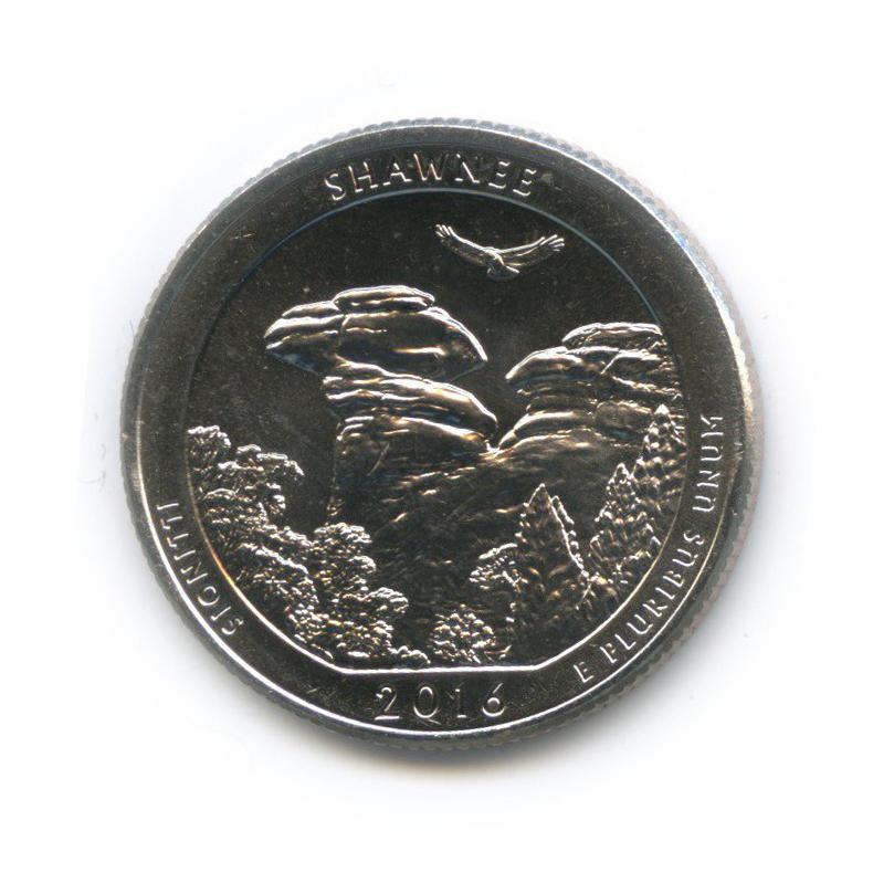 25 центов (квотер) - Национальный парк Шони 2016 года Р (США)