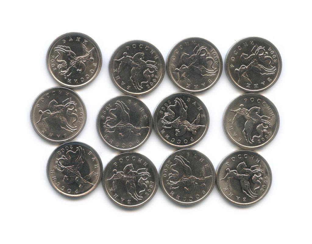 Набор монет 5 копеек (погодовка) 1997-2009 СПМД (Россия)