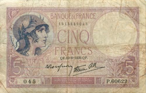 5 франков 1939 года (Франция)