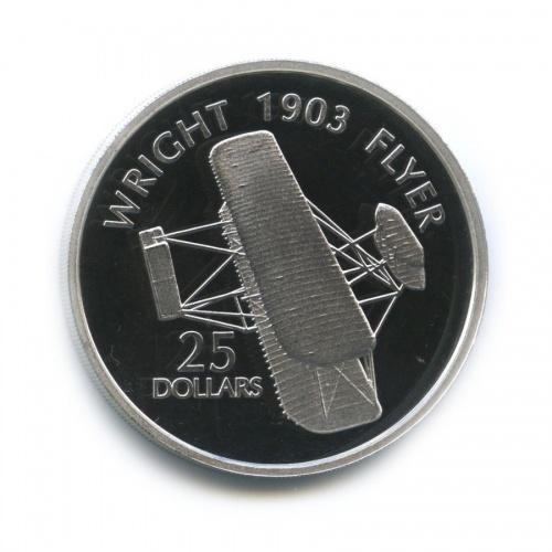 25 долларов - Биплан «Flyer» братьев Райт, Соломоновы острова 2003 года