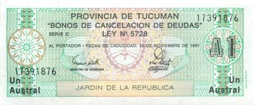 1 аустраль (Тукуман) 1991 года