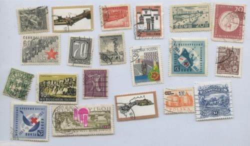 Набор почтовых марок (разные страны), 20 шт