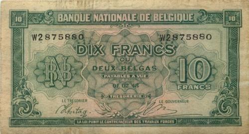 10 франков 1943 года (Бельгия)