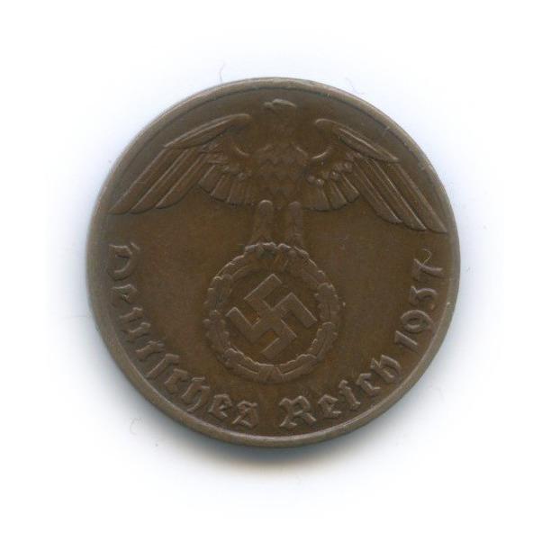1 рейхспфенниг 1937 года G (Германия (Третий рейх))