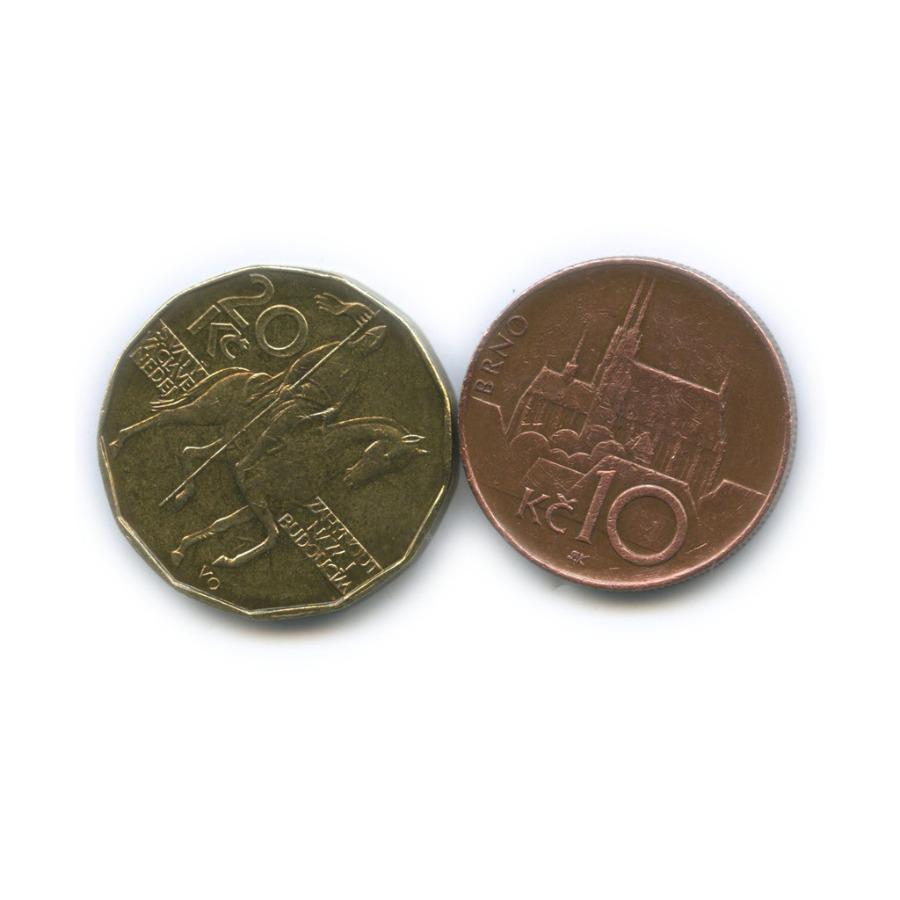 Набор монет 10 крон, 20 крон 1993, 1996 (Чехия)