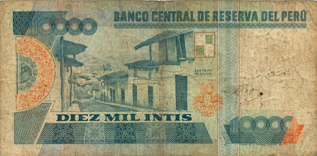 10000 инти 1988 года (Перу)