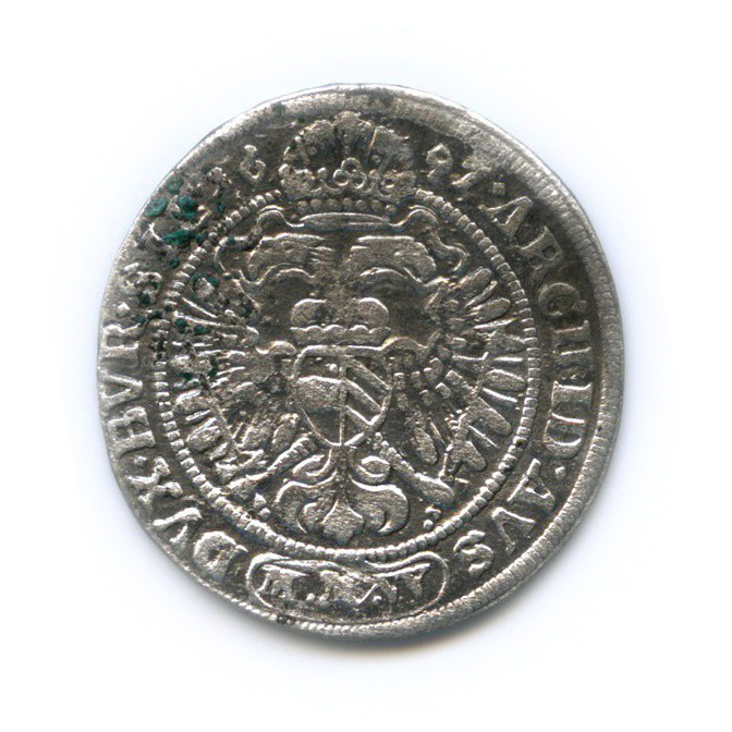3 крейцера - Леопольд I, Священная Римская империя 1697 года (Австрия)