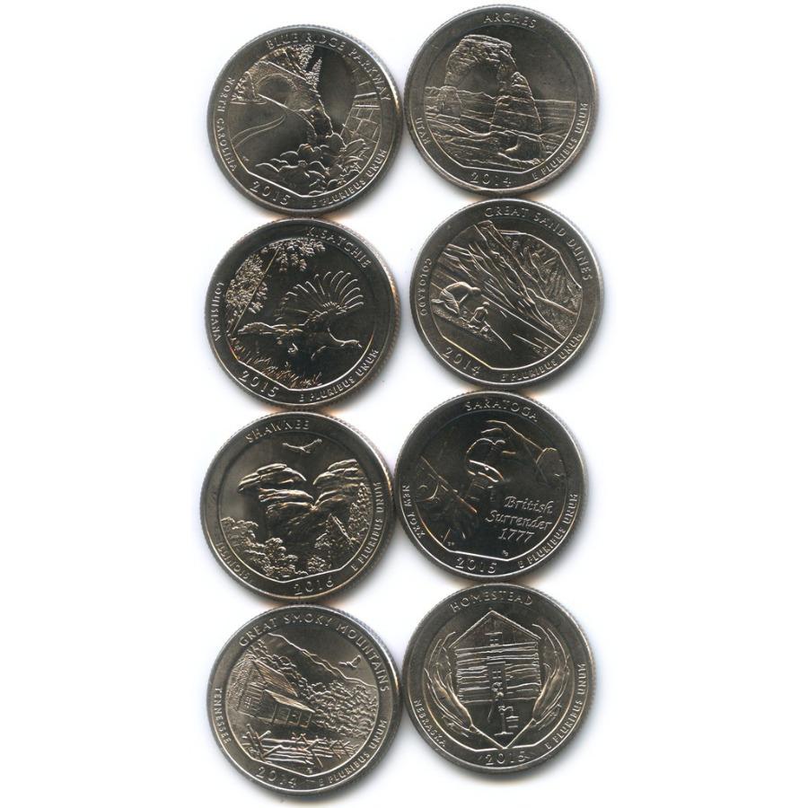 Набор юбилейных монет 25 центов (квотер) 2015-2016 (США)