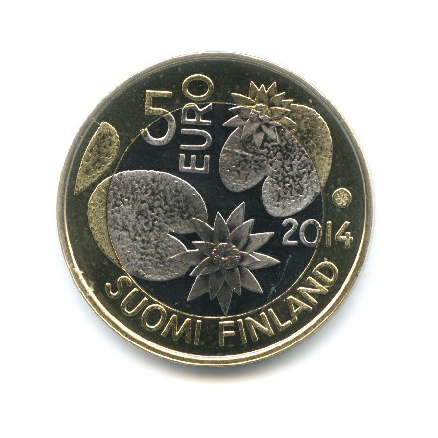 5 евро - Подводный мир - Медуза 2014 года (Финляндия)
