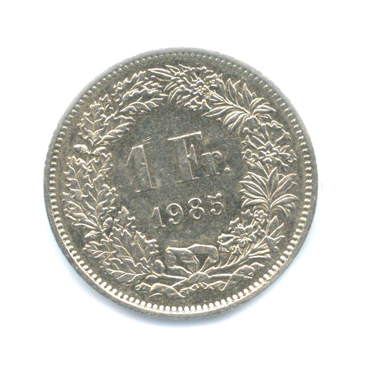 1 франк 1985 года (Швейцария)