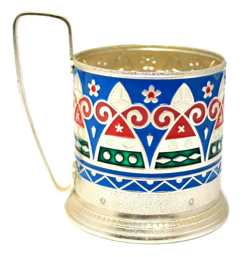 Подстаканник «Хоровод» (эмаль, новый) (СССР)