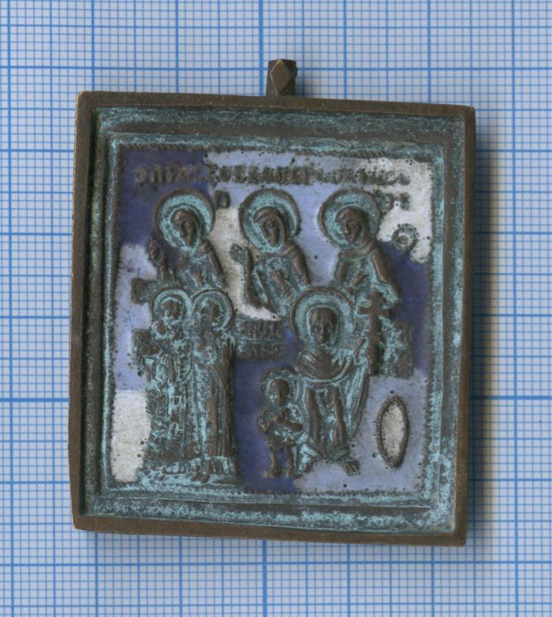 Иконка «Семь святых» (эмаль, литье)
