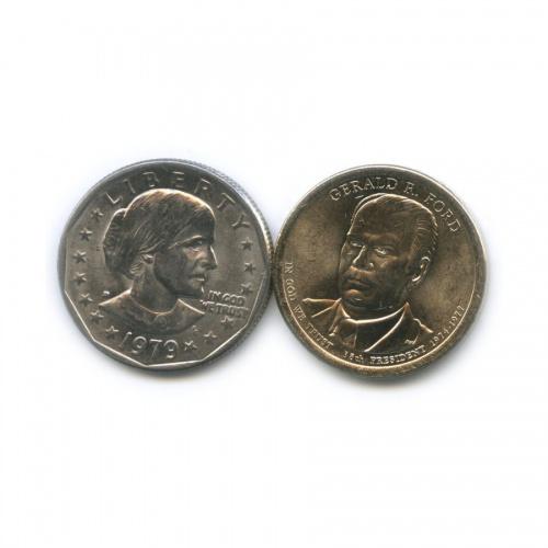 Набор монет 1 доллар 1979, 2016 (США)