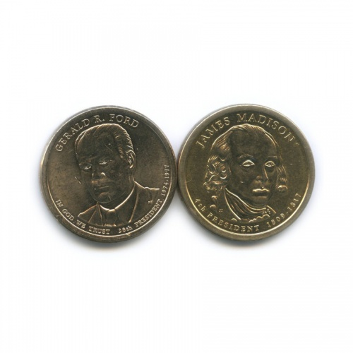 Набор монет 1 доллар — Президенты США 2007, 2016 (США)