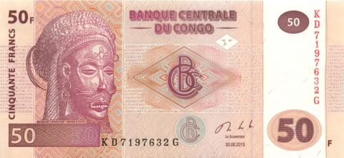 50 франков (Конго) 2013 года