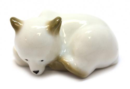 Фигурка ЛФЗ «Мишка белый» (длина 5,5 см) (Россия)