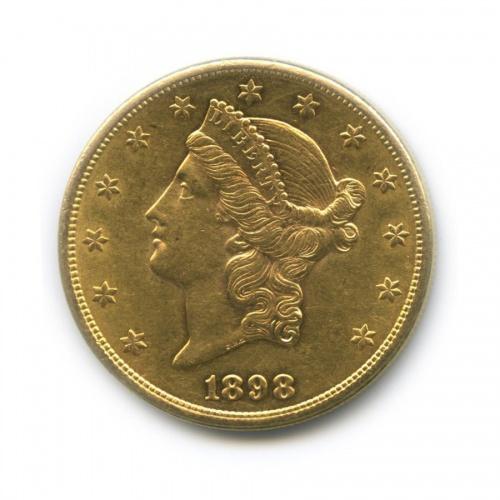 20 долларов - Женщина, символизирующая Свободу 1898 года S (США)